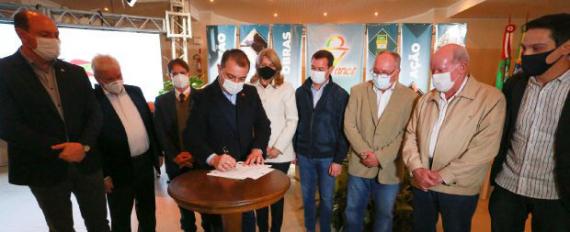 Em Concórdia, governador anuncia mais de R$ 70 milhões em investimentos para a região