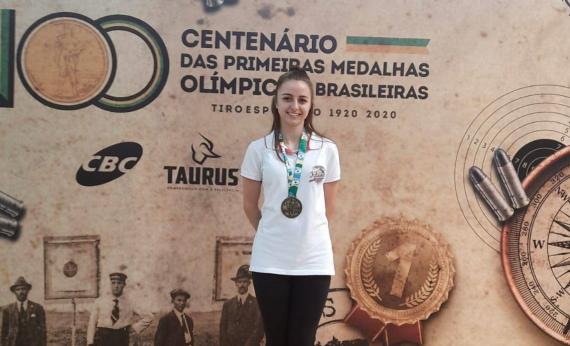 Atiradora de Concórdia está classificada para seletiva dos Juegos em San Salvador