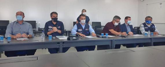 Governador anuncia ações de combate à Covid-19 para a região Oeste de Santa Catarina