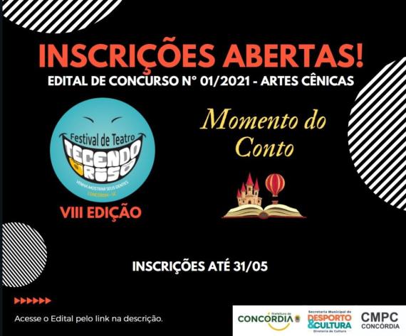 Edital de Concurso de Artes Cênicas com inscrições abertas