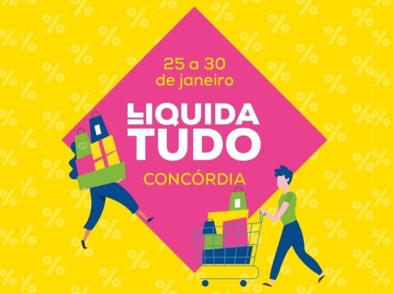 Liquida Tudo Concórdia começa hoje em Concórdia com diversas promoções